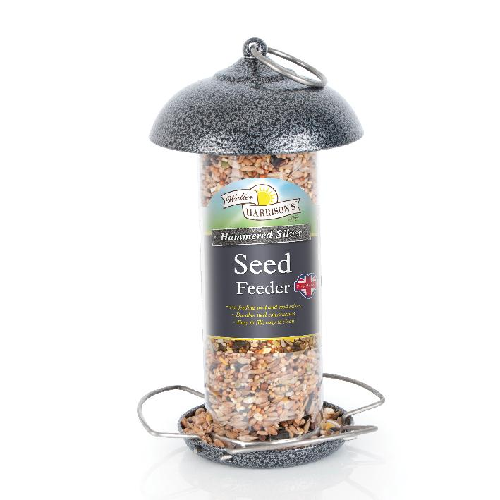Walter Harrisons Hammered Silver Seed Feeder