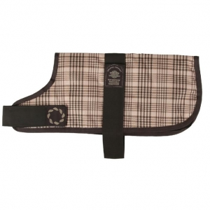 Outhwaite Padded Dog Coat Brown Checks