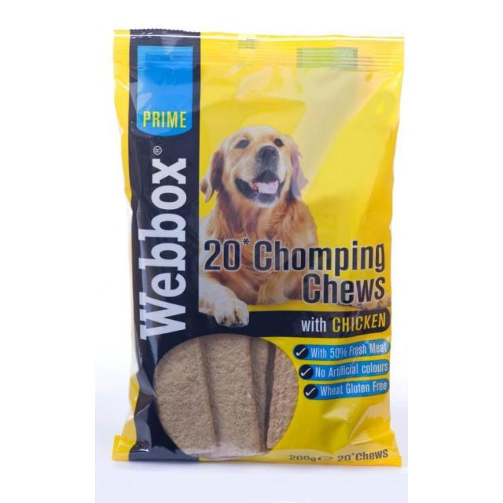 CLEARANCE Webbox Chomping Chews with Chicken 20pcs