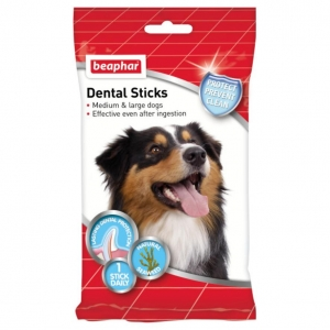 Beaphar Dental Sticks for Medium and Large Dogs 7pcs