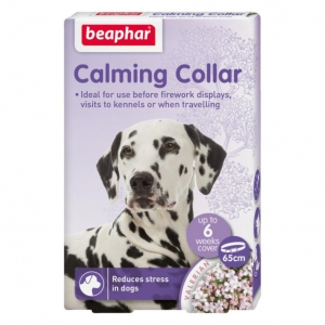 cCarefully developed to naturally calm your pet and help reduce stress, the Beaphar Calming Collar is an easy to use functional collar for dogs