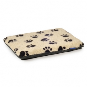 Ancol Paw Print Flat Pad Cream