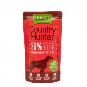 Natures Menu Country Hunter 80% Beef with Fruit & Veg 18 x 150gm (Grain Free)