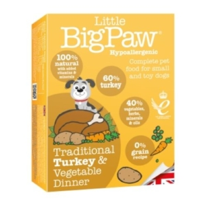 Little BigPaw Traditional Turkey & Vegetable Dinner 7 x 150gm