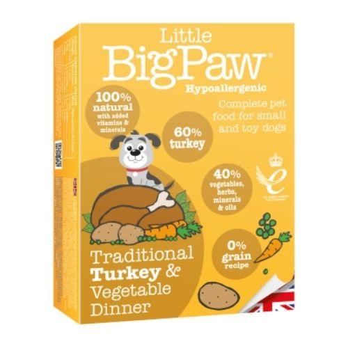 Little BigPaw Traditional Turkey & Vegetable Dinner 7 x 150gm