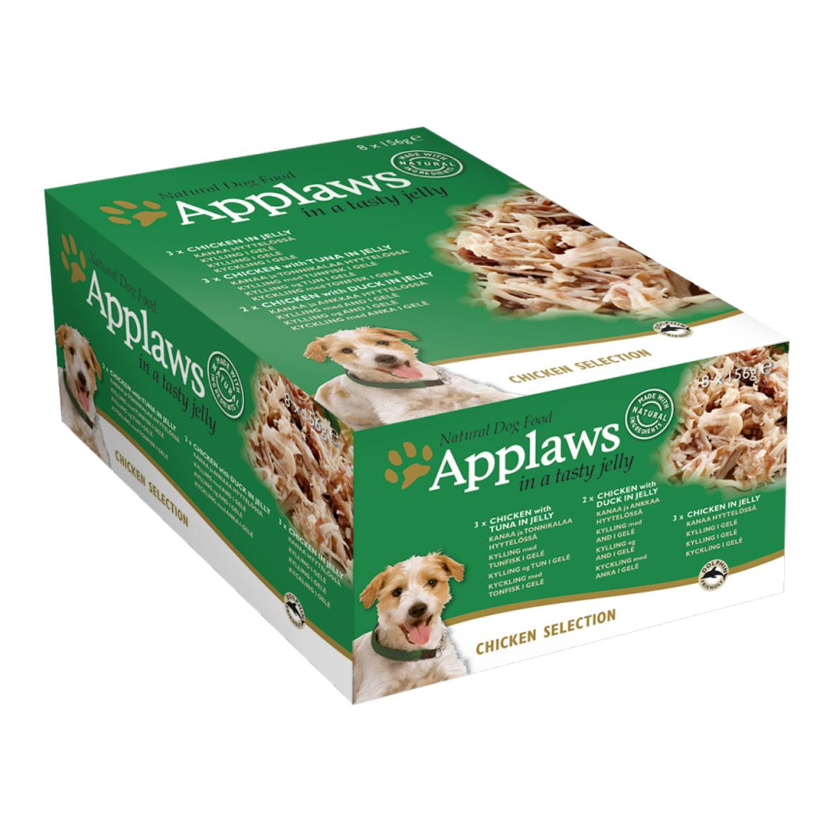 Applaws Chicken Selection in Jelly 8x156g