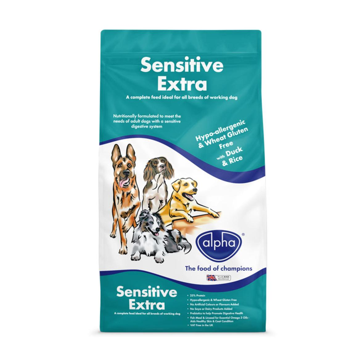 Alpha Sensitive Extra with Duck and Rice 15kg VAT FREE (Wheat Gluten Free)