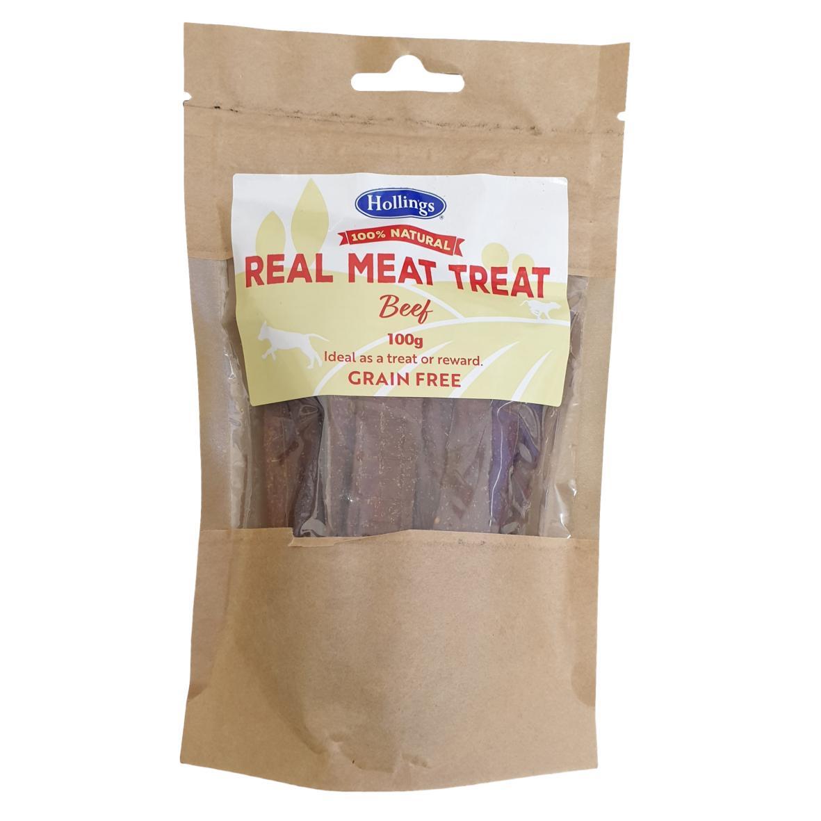 Hollings Real Meat Treat Beef 100gm