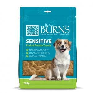 Burns Sensitive Treats Pork & Potato 200gm (Grain Free)