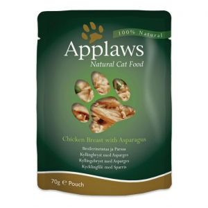 Applaws Pouches Chicken Breast with Asparagus in Broth for Cats 12 x 70gm