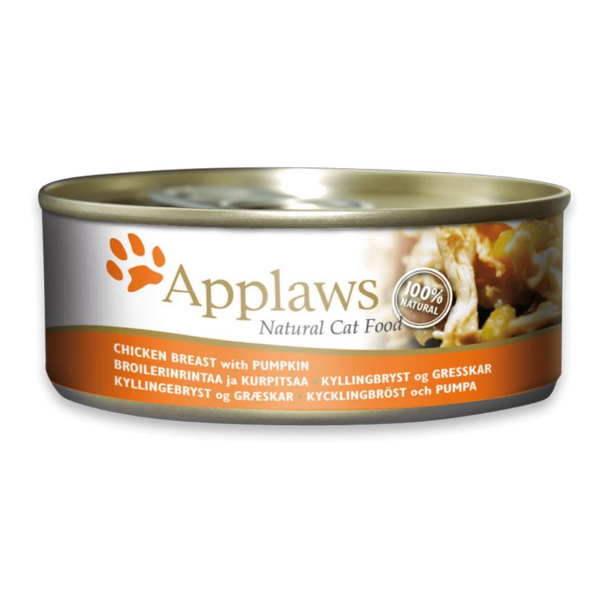 CLEARANCE Applaws Cat Chicken Breast with Pumpkin in Broth 24 x 70gm