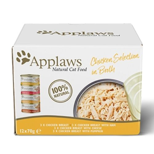 Applaws Chicken Selection in Broth 12x70g