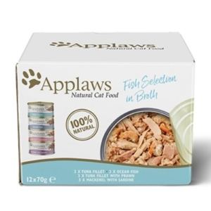 Applaws Fish Selection in Broth 12x70g