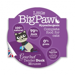Little BigPaw Complete Gourmet Tender Duck Mousse 8 x 85gm (Grain & Gluten Free)