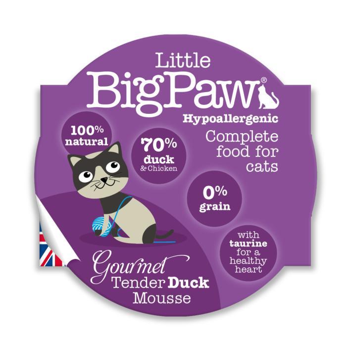 Little BigPaw Gourmet Tender Duck Mousse 8 x 85gm