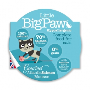 Little BigPaw Complete Gourmet Atlantic Salmon Mousse 8 x 85gm (Grain & Gluten Free)