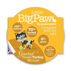 Little BigPaw Complete Gourmet Tender Turkey Mousse 8 x 85gm (Grain & Gluten Free)