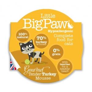 Little BigPaw Complete Gourmet Tender Turkey Mousse 8 x 85gm (Grain & Gluten Free)