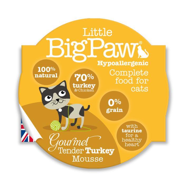 Little BigPaw Gourmet Tender Turkey Mousse 8 x 85gm