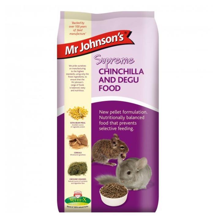 CLEARANCE Mr Johnsons Supreme Chinchilla and Degu Food 900gm