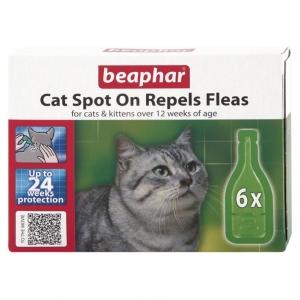 Beaphar Cat Spot On Repels Fleas 24WK