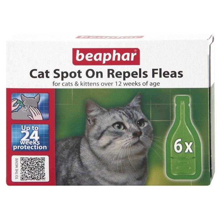 CLEARANCE BEAPHAR Cat Spot On for Fleas