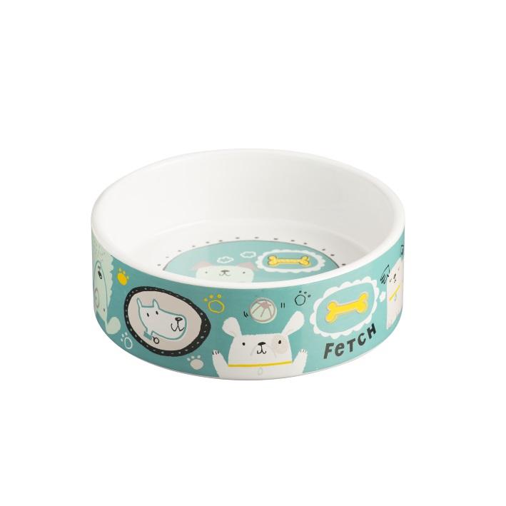 mason cash cartoon dog bowl 15cm assorted colours purely pet