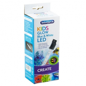 Interpet Kids Glow White and Blue LED Bulb 20cm
