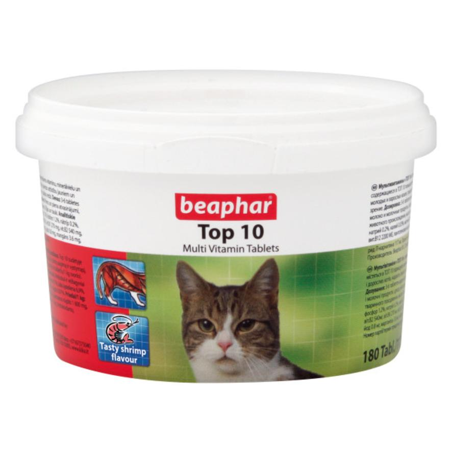 CLEARANCE BEAPHAR Top 10 for Cats 140gm (180 Multivitamin Tablets)