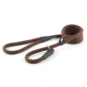 Ancol Deluxe Rope Slip Lead Brown