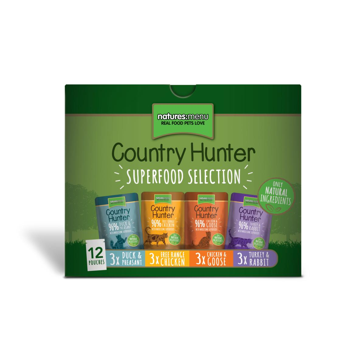 Natures Menu Country Hunter Superfood Selection Cat Multipack 12 x 85g