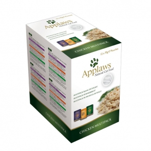 Applaws Chicken Multipack Pouches in Broth for Cats 12 x 70gm