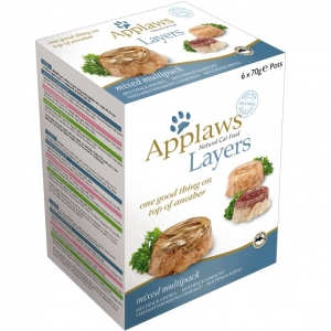 Applaws Layers Mixed Multipack Trays for Cats 6 x 70gm