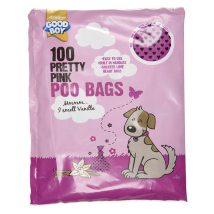 CLEARANCE Good Boy Pink Poo Bags 100pcs