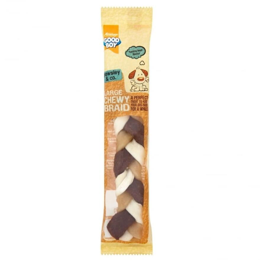Good Boy Pawsley & Co Large Chewy Braid with Beef 20cm