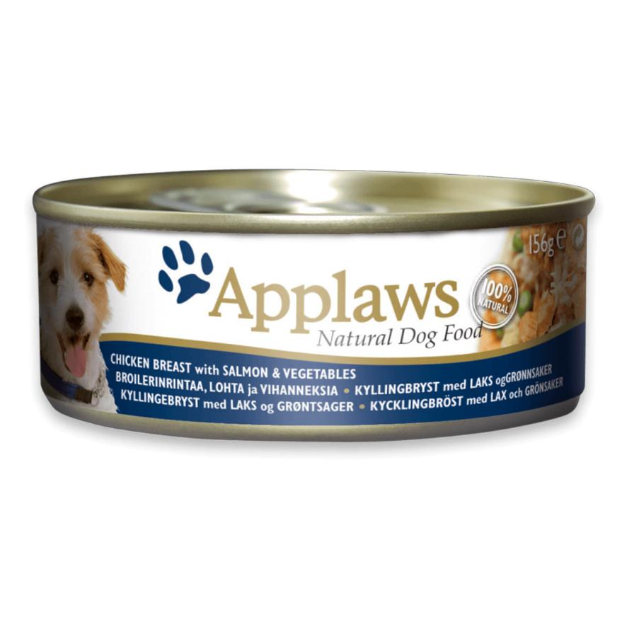 CLEARANCE Applaws Dog Chicken Breast with Salmon & Vegetables 12 x 156gm
