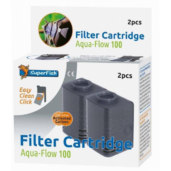 Superfish Aqua Flow 100 Filter Cartridge 2pcs