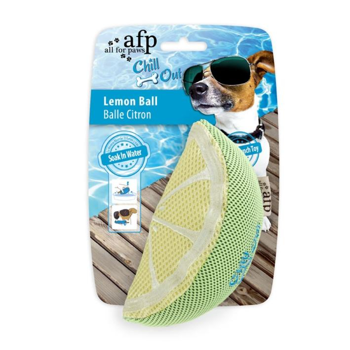 All for Paws Chill Out Lemon Ball 8.5cm x 15cm