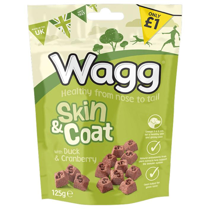 Wagg Skin and Coat Treats with Duck and Cranberry 125gm