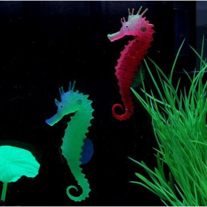 Superfish fluo seahorse ornament red purely pet supplies ltd for Seahorse fish tank