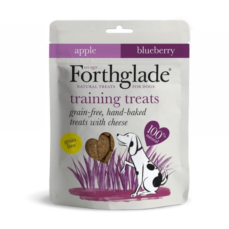 CLEARANCE Forthglade Training Treats Cheese, Apple and Blueberry 150g