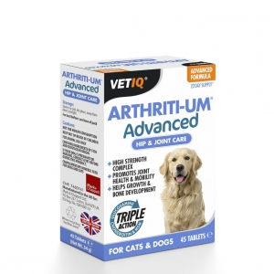 VetIQ ArthritiUm Advanced Hip & Joint Care Tablets 45pcs