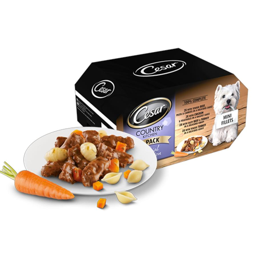 Cesar Country Kitchen Special Selection Mini Fillets in Gravy (Tray) 24 x 150gm 736495