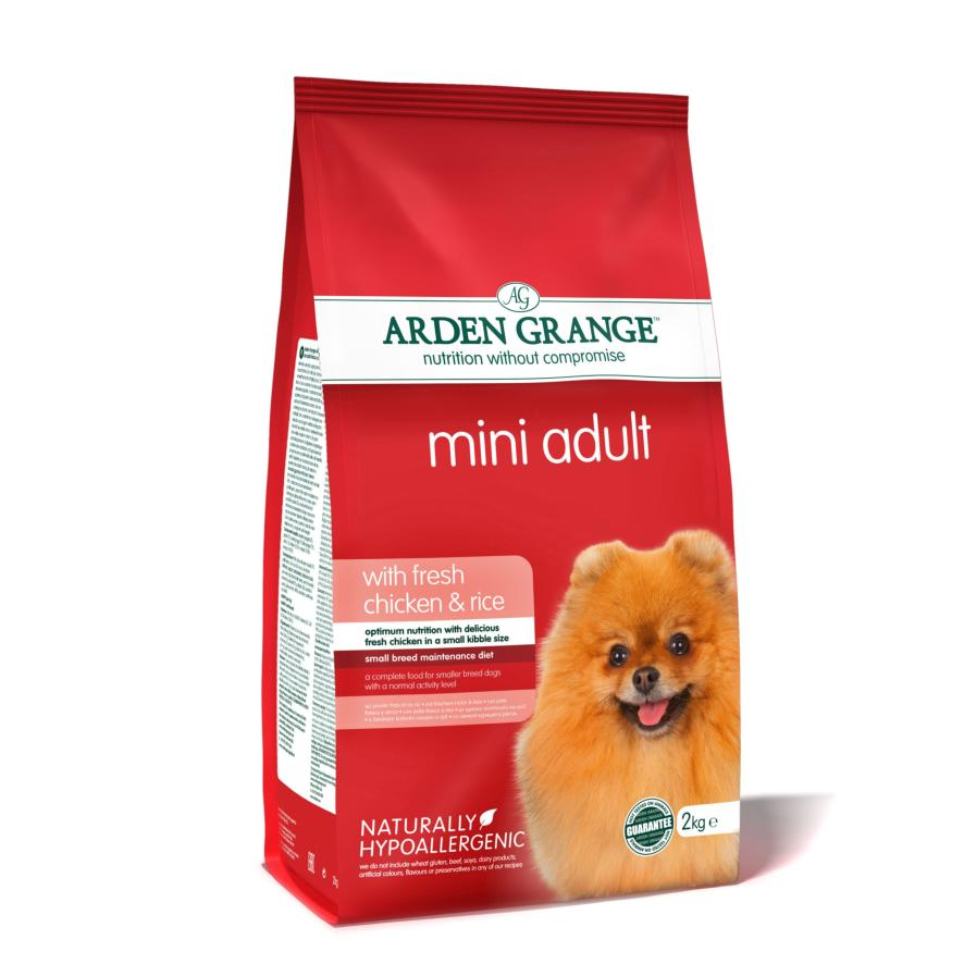 Arden Grange Mini Adult with Fresh Chicken & Rice (Wheat Free)(Two Sizes)