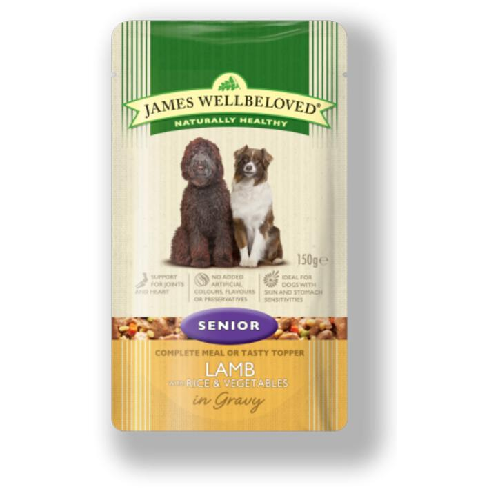 James Wellbeloved Senior Dog Food Pouches With Lamb 10 X 150gm