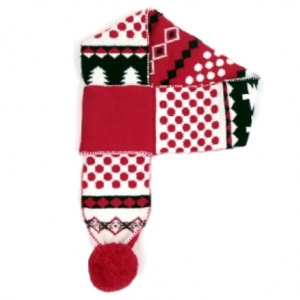 Animate Festive Dog Scarf Black and Red