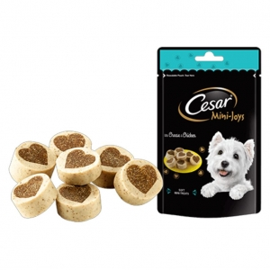 Cesar Mini Joys Treats Chicken and Cheese 100gm