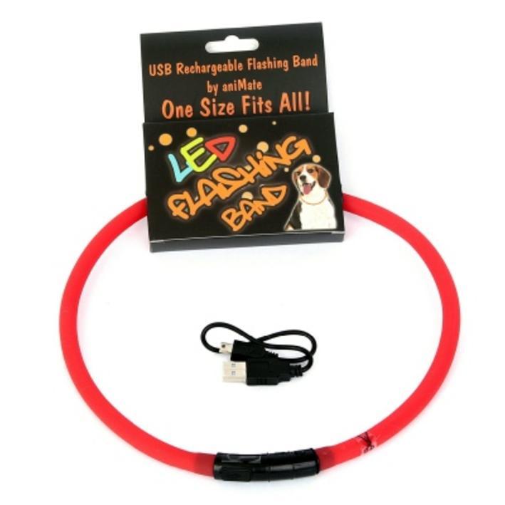 Animate LED Flashing Band Red