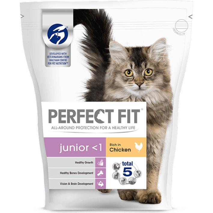 perfect fit junior cat food with chicken purely pet supplies ltd. Black Bedroom Furniture Sets. Home Design Ideas