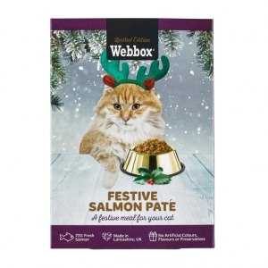 Webbox Festive Salmon Pate for Cats 140gm
